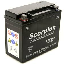 ytx20h bs battery scorpion 12 volt motorcycle batteries