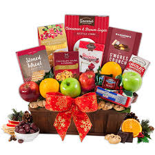 christmas fruit baskets christmas fruit basket by gourmetgiftbaskets