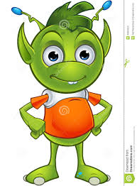 pointy eared alien character stock vector image 48905254