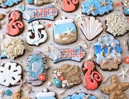 seashell shaped cookies the iced sugar cookie mermaid birthday party the iced