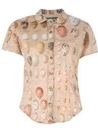 paul harnden bird egg shirt in natural lyst