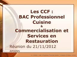 sujet bac pro cuisine 07 16 96 les ccf bac professionnel cuisine commercialisation et