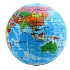 global map earth foam world map earth globe stress relief bouncy atlas