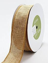 jute ribbon may arts antique gold burlap wire wired edged hessian jute ribbon