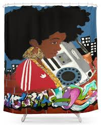 society6 old afro shower curtain contemporary shower