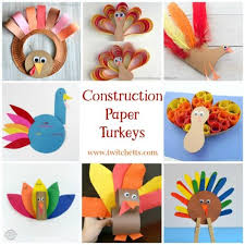 11 construction paper turkeys thanksgiving crafts for