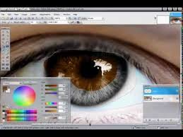 how to change an eye color with paint net youtube