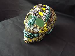 day of the dead home decor sugar skull lamp day of the dead skull gothic skull mosaic sugar