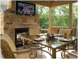 backyards chic living room with corner fireplace decorating
