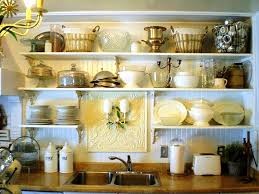 kitchen with shelves instead of cabinets kitchen decoration