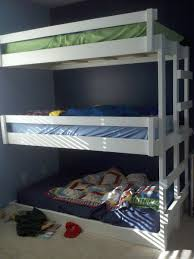Three Bed Bunk Bed Bunk Beds 3 Tier Bunk Bed Bunk Bed Plans White