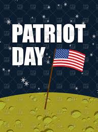 American Flag On The Moon Patriot Day American Flag On Moon Surface Royalty Free Vector