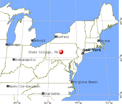pennsylvania state map state pennsylvania pa 16802 profile population maps