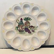 white deviled egg plate vintage indiana carnival glass deviled egg plate blue iridescent