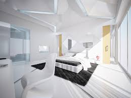bedroom attractive modern bedroom idea with cozy white bed and pillows also blanket and black rug on the white floor combine with modern star ceiling and