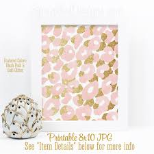 abstract art print blush pink gold glitter watercolor