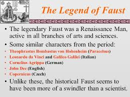 the legend of faust the early modern period in germany also