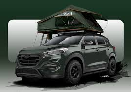 hyundai tucson aftermarket accessories hyundai tucson adventuremobile concept gets to the trail in style
