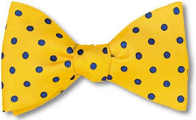 yellow blue polka dots silk bow tie www bowtieclub
