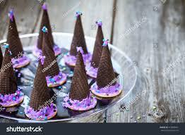 homemade waffle cones cookies form halloween stock photo 415820401