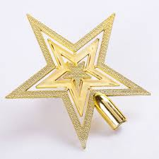 top of christmas tree star outdoor decorations new year christmas