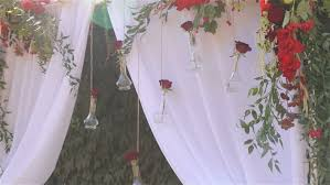 Wedding Arches Inside Hats Decorated Wedding Arch Stock Footage Video 4592519