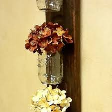 Wall Sconces For Flowers Mason Jar Wall Sconce With Regard To Desire Earthgrow