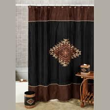 colton faux suede southwest shower curtain