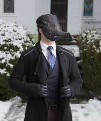 plague doctor halloween costume leather plague doctor mask in black leather raven mask