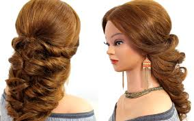 easy wedding prom hairstyle for long hair tutorial youtube
