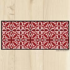 tapis de cuisine orange tapis cuisine carreaux sienne