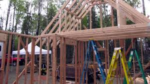 Arched Cabins by Building A Cabin In Wasilla Alaska Youtube