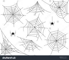halloween background black spider web halloween monochrome spider web spiders isolated stock vector