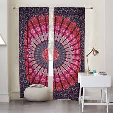 indian window curtains mandala door cover curtains bohemian door