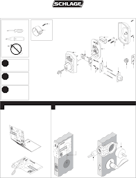 schlage door be365f user guide manualsonline com