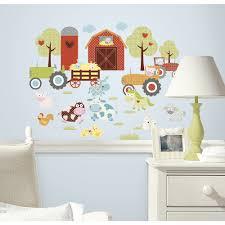 Photo Wall Stickers Roommates Happi Barnyard Peel Stick Wall Decals Walmart Com