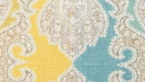 Blue Damask Upholstery Fabric Aqua Blue Damask Upholstery Fabric Woven Yellow Blue