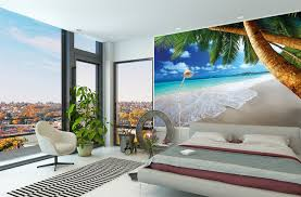 adorable ocean themed bedroom ideas with big wall mural for downtown apartment jpg adorable ocean themed bedroom ideas with big wall mural for downtown apartment