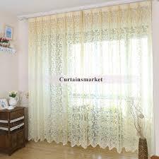 made designer floral white sheer curtains