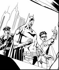 excellent classic batman and robin coloring pages with batman and
