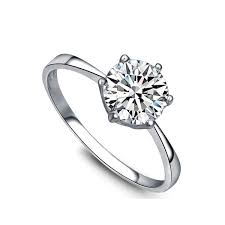 womens engagement rings 1 carat solitaire cz engagement ring for women jewelocean