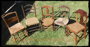 Antique Oak Ladder Back Chairs Vintage Chairs For Sale
