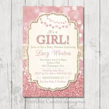 pink and gold baby shower invitations pink and gold baby shower invitation pink gold baby shower girl