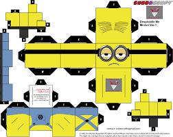 minions papercraft papercraft toys arte papel