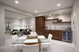 best type flooring basement family room with modern square dining