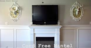 Fireplace Mantels For Tv by Cord Free Mantel How To Hide Your Cable Box System Dream Book