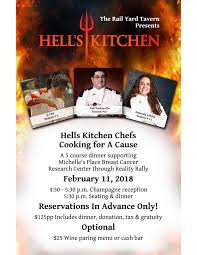 Hells Kitchen Best Chef Hell - railyard tavern presents hell s kitchen chefs cooking for a cause