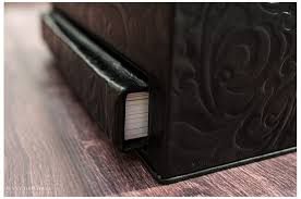 black leather photo album volume flushmount album in black tooled leather