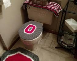 Ohio State Outdoor Rug Ohio State Buckeyes Crochet Rug Handmade Block O Throw Rug