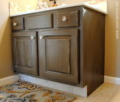 Painted And Glazed Kitchen Cabinets by How To Glaze A Cabinet Using Stain Jenna Burger